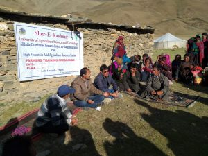 Training camp at Samad cluster of SKUAST, Kashmir, Leh-Ladakh, J&K